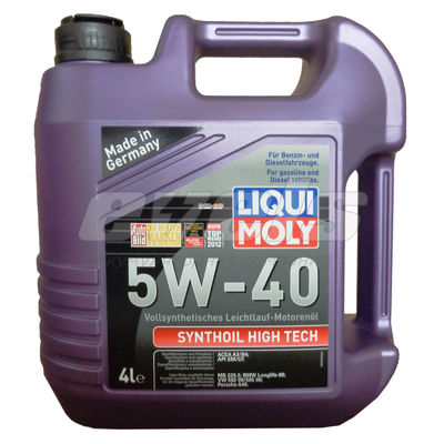 Масло моторное 5W40 LIQUI MOLY 4л синтетика Synthoil High Tech — основное фото
